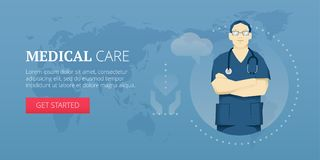 Medical care banner Royalty Free Stock Images