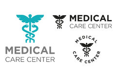Medical Care Center. A logo for a Medical Centre or Health clinic Royalty Free Stock Images
