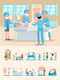 Medical Care Composition stock illustration
