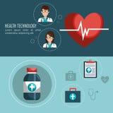 Medical care design. Illustration eps10 graphic Stock Image