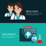 Medical care design. Illustration eps10 graphic Stock Photography