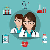 Medical care design Stock Photo
