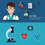 Medical care design Stock Images