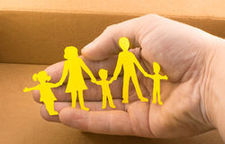 Medical care for everyone. On the background of hands Royalty Free Stock Photos