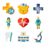 Medical care and health isolated modern trendy Stock Image