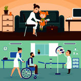 Medical Care Horizontal Banners Royalty Free Stock Images