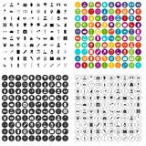 100 medical care icons set vector variant. 100 medical care icons set vector in 4 variant for any web design isolated on white Stock Photography