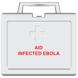Medical care for infected with Ebola Stock Image