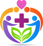 Medical care logo. A vector drawing represents medical care logo design stock illustration
