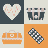 Medical care set Stock Photo
