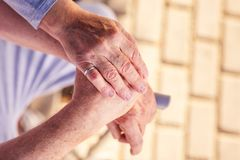 Medical care: Understanding and support for older people royalty free stock photography
