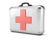 Medical case. On white background. 3d render vector illustration