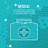Medical case first aid health care. Vector illustration eps 10 Stock Photos