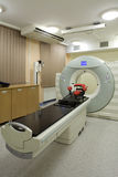 Medical CAT scan machine. A medical CAT scan machine in a hospital royalty free stock photography