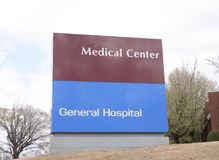 Medical Center and General Hospital Royalty Free Stock Photos