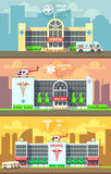Medical center and hospital building vector Royalty Free Stock Photos