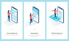 Medical centre concept onboarding. royalty free illustration