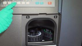Medical laboratory centrifuge stock video