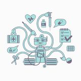 Medical chatbot concept stock illustration