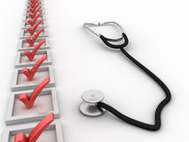 Medical Check List Royalty Free Stock Images