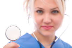 Medical check-up. Concept with doctor and stethoscope Royalty Free Stock Photo
