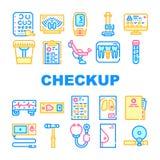Medical Checkup Health Collection Icons Set Vector