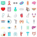 Medical checkup icons set, cartoon style. Medical checkup icons set. Cartoon set of 36 medical checkup vector icons for web isolated on white background Royalty Free Stock Image