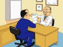 Medical checkup. Illustrations medical checkup  vector Royalty Free Stock Images