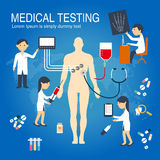 Medical Checkup Infographics Royalty Free Stock Image
