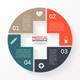 Medical circle plus sign infographic, diagram Stock Photo