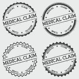 Medical Claim insignia stamp isolated on white. Medical Claim insignia stamp isolated on white background. Grunge round hipster seal with text, ink texture and Royalty Free Stock Photos