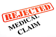 Medical Claim REJECTED. A close-up of a REJECTED Medical Claim Royalty Free Stock Image