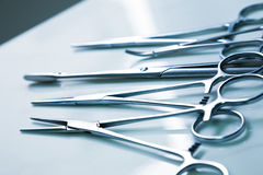 Medical clamp instruments Royalty Free Stock Photo