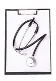 Medical Clipboard And Stethoscope Stock Image