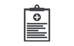 Medical clipboard flat vector icon Stock Image