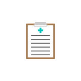 Medical clipboard solid icon, medical form. And disease history, vector graphics, a colorful linear pattern on a white background, eps 10 Royalty Free Stock Photo