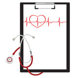 Medical clipboard Royalty Free Stock Image