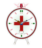 Medical clock. Using medicinal drugs Royalty Free Stock Images