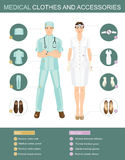 Medical clothes and accessories. medical people Stock Photo
