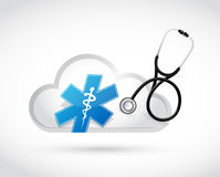 Medical cloud computing concept illustration Stock Photography