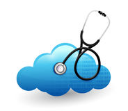 Medical cloud computing stethoscope illustration Stock Images