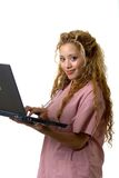Medical coder. In a laptop Stock Photo
