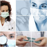 Medical collage. Stock Images