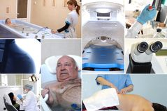 Medical collage. Healthcare concept - collage of several pictures with people Stock Photography
