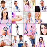 Medical collage Stock Photo