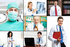 Medical collage Stock Image