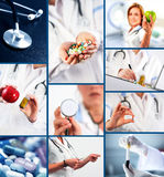Medical collage Stock Photos