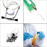 Medical collage Stock Photos