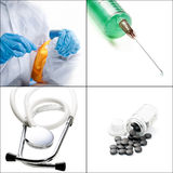 Medical collage Royalty Free Stock Photo