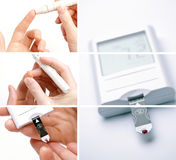 Medical Collage for Diabetes Stock Images